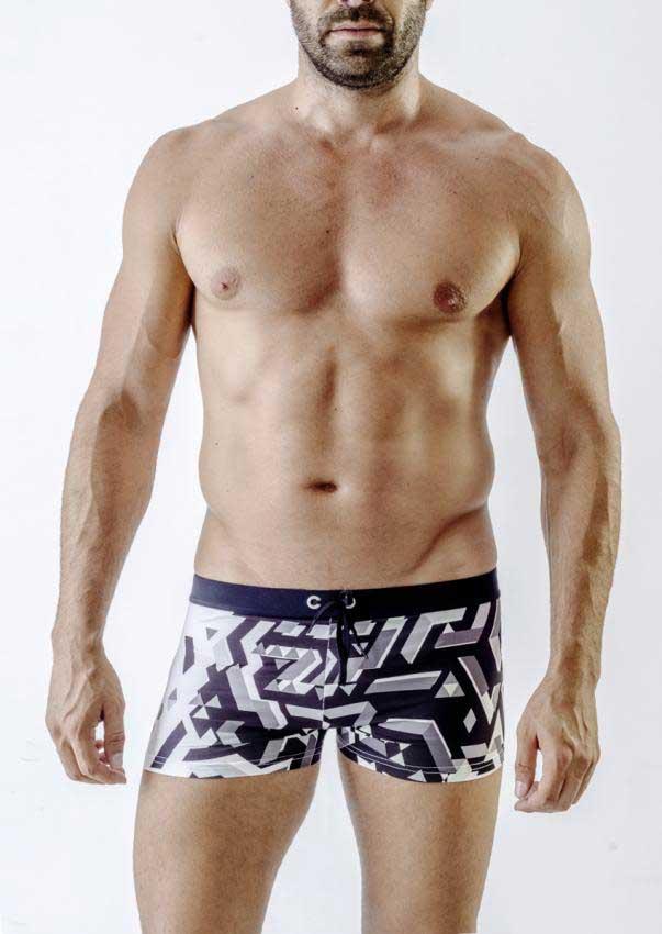 3402de05cc Geronimo Square Cut Trunk Swimwear 1719B1-2 [1719B1-2] : Buy Men's ...