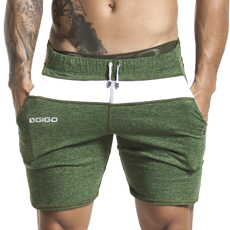 5f8002e6baab Gigo MELANGE GREEN Shorts B23144 [B23144] : Buy Men's Fashion Online ...