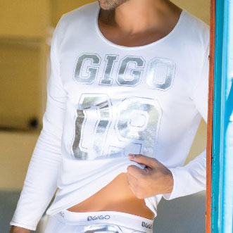 Gigo Number 09 Long Sleeved T Shirt White NUMK3