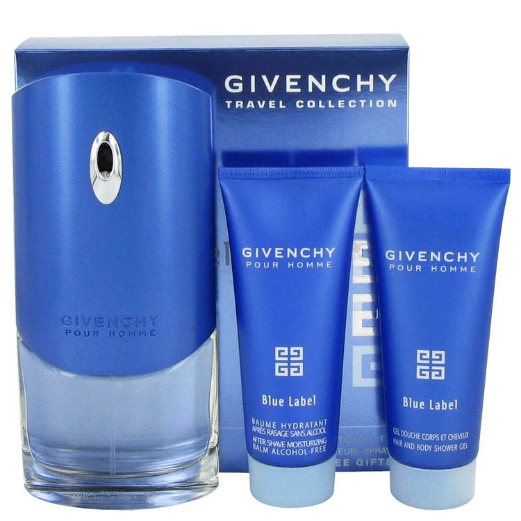 Givenchy Blue Label EDT Spray 3.4oz/100.55mL + After Shave Balm 2.5oz/73.93mL + Shower Gel 2.5oz/73.93mL Gift Set 480409