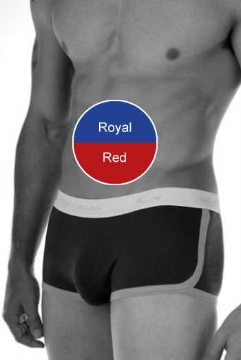 Go Softwear California Colors Retro Shorts Royal/Red 2014
