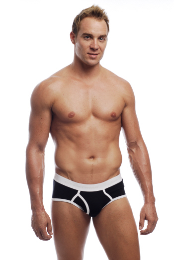 Go Softwear California Colors Piping Boy Brief Underwear Black/White 2021