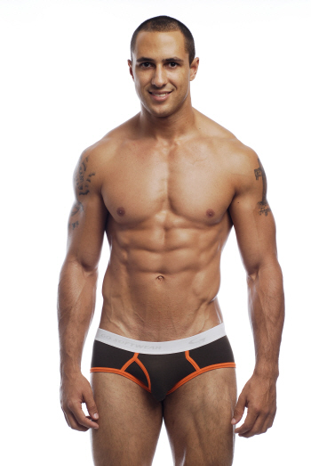 Go Softwear California Colors Piping Boy Brief Underwear Military Brown/Orange 2021