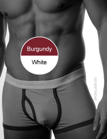 Go Softwear California Colors Piping Trunk Underwear Burgundy/White 2025