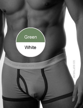 Go Softwear California Colors Piping Trunk Underwear Green/White 2025