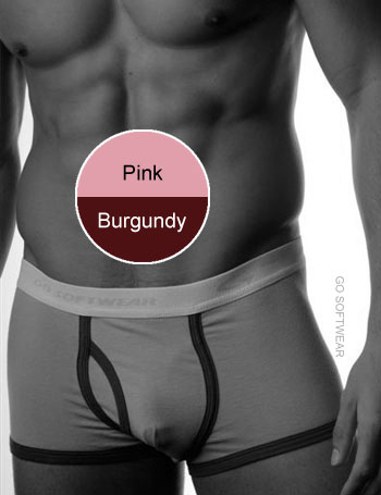Go Softwear California Colors Piping Trunk Underwear Pink/Burgundy 2025