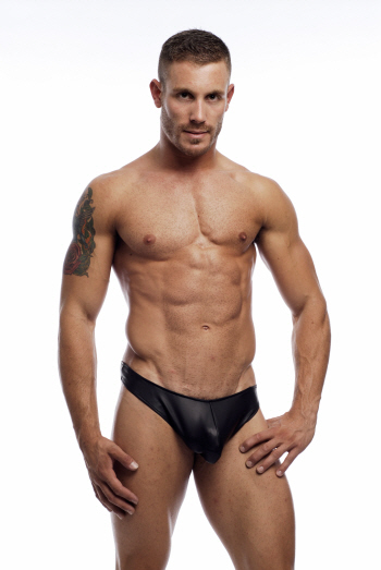 Go Softwear C-Ring Pleather Thong Underwear Black 2359