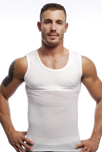 Go Softwear Slimming Tank Top T Shirt White 2705