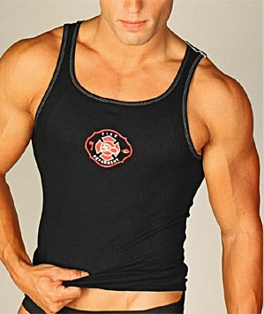 Go Softwear Law Enforcement Fire Logo Tank Top T Shirt 3105F