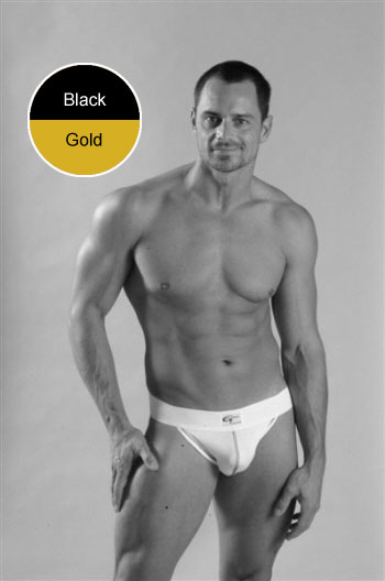 Go Softwear Jock Strap Underwear Black/Gold 5009
