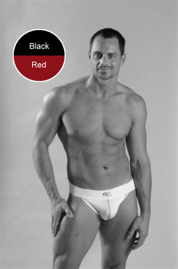 Go Softwear Jock Strap Underwear Black/Red 5009