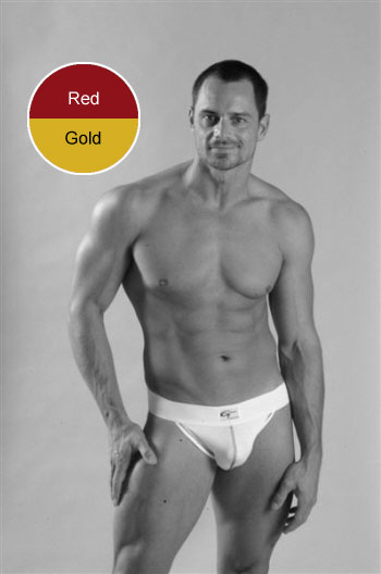 Go Softwear Jock Strap Underwear Red/Gold 5009