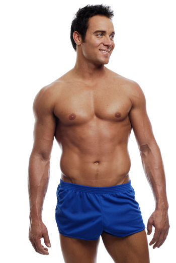 Go Softwear American Jock Ultra Running Shorts Royal 8316