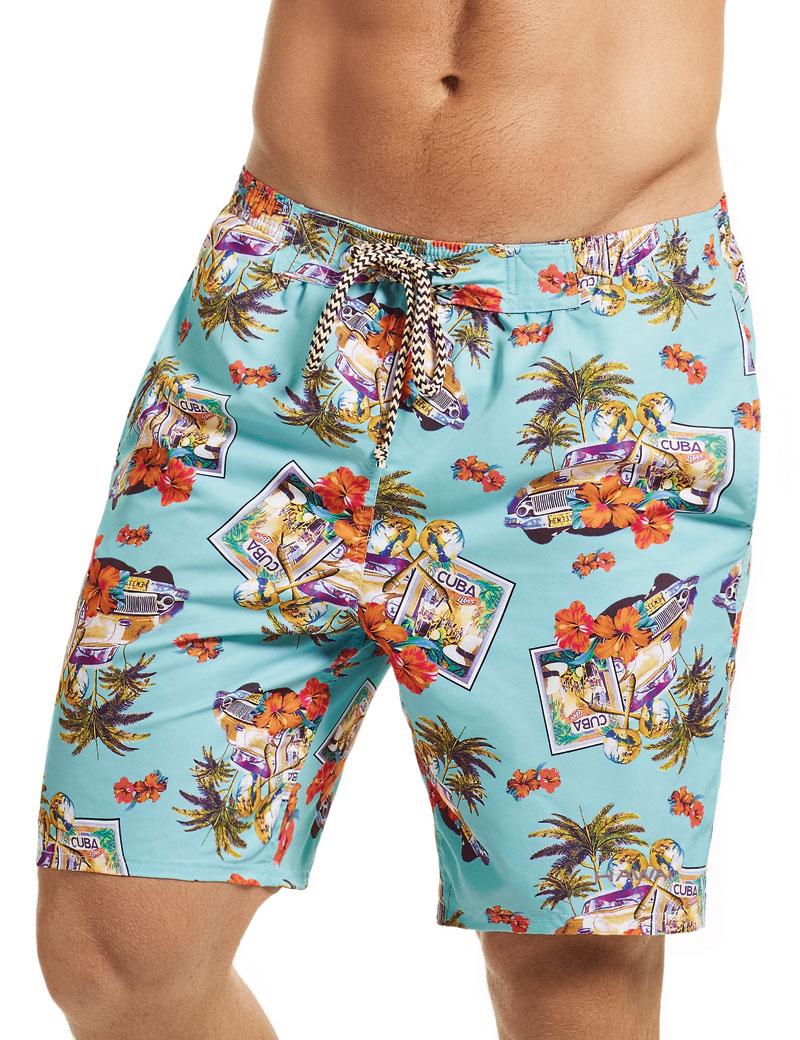5e09cd28b0 Hawai Caribbean Vacation Boardshorts Beachwear Blue 51801 [51801 ...