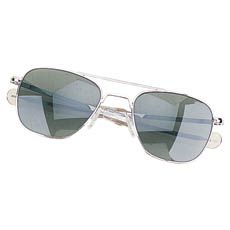 Humvee Pilot 57mm Chrome Sunglasses HMV-57B-MATT