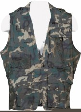 Humvee Safari Vest Jacket Camo HMV-VS
