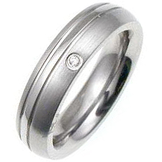 J. Goodin Classic CZ Stainless Steel Ring STR0062V-C01