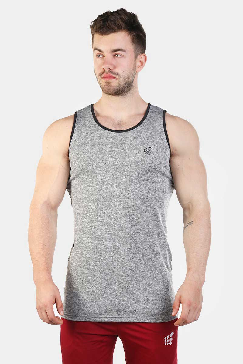 f9796df793b818 Jed North Retro Fitted Tank Top T Shirt Light Grey JNTOP019 ...