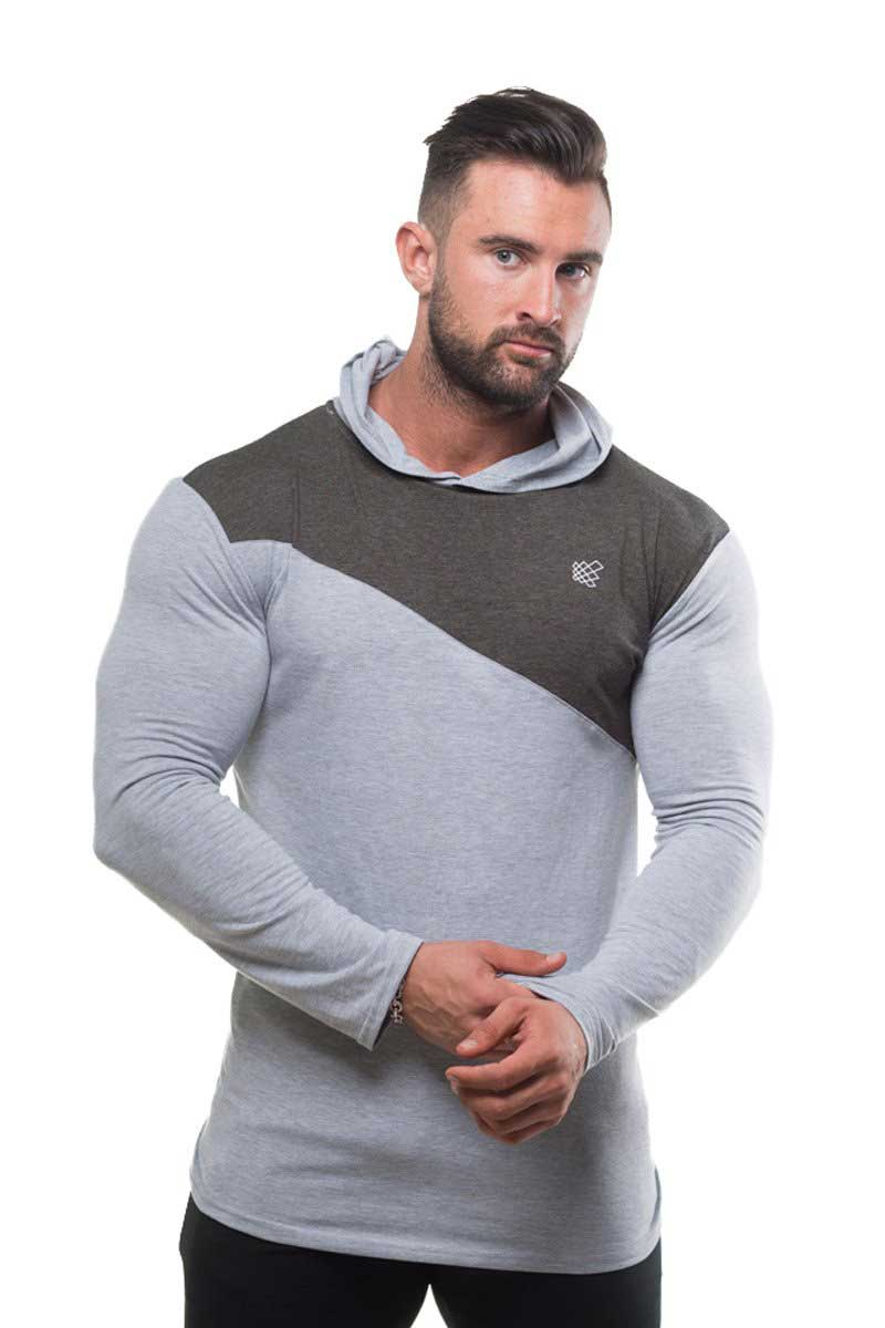 586aba21524 Jed North 2 Tone Pullover Long Sleeved Hoodie Sweater Grey. Tap to expand