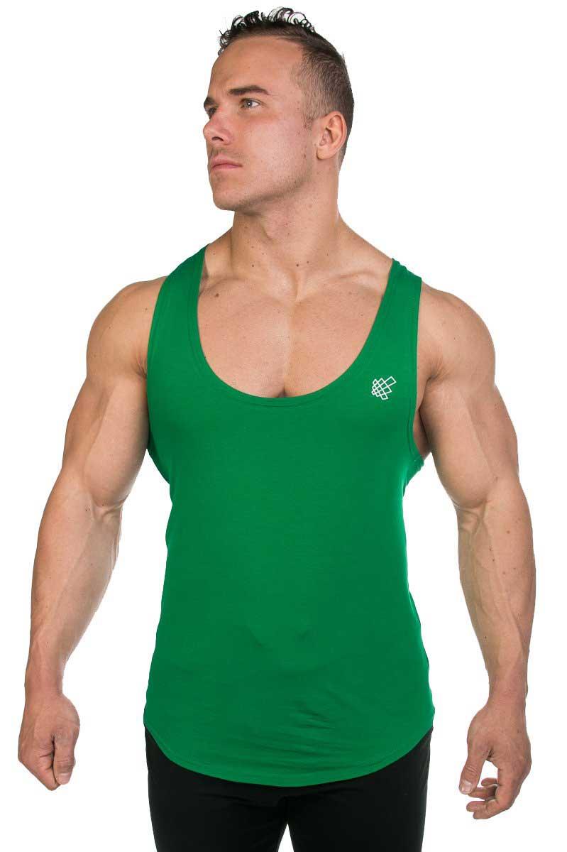 241446fe00f5b2 Jed North Deep Cut Stringers Tank Top T Shirt Green TANK036  TANK036 ...