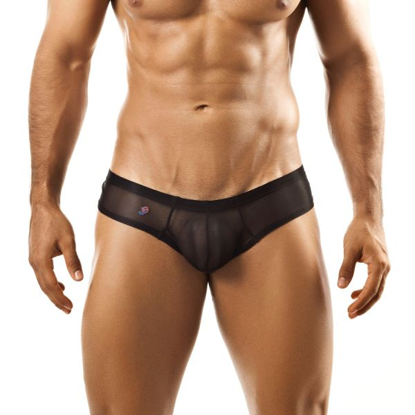 Joe Snyder Mini Cheek Boxer Brief 22 Mesh Black Underwear & Swimwear
