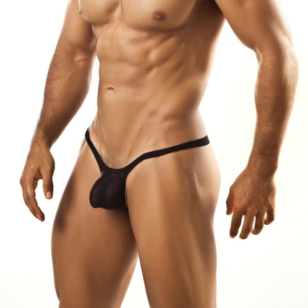 Joe Snyder Bulge Thong BUL02 Mesh Black Underwear & Swimwear