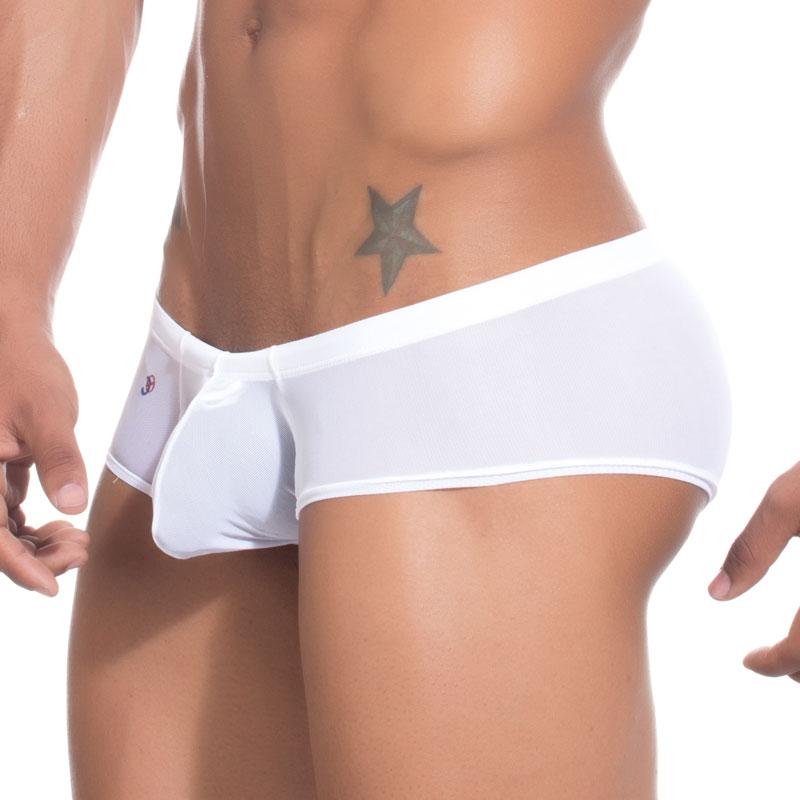 7366f19bb242 Joe Snyder MaxiBulge Cheek Boxer Brief Underwear Mesh White MBUL-05 ...