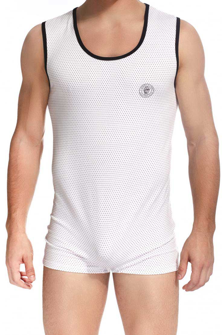 L'Homme Invisible Saint Malo Printed Bodysuit White HW147-MAL-P02