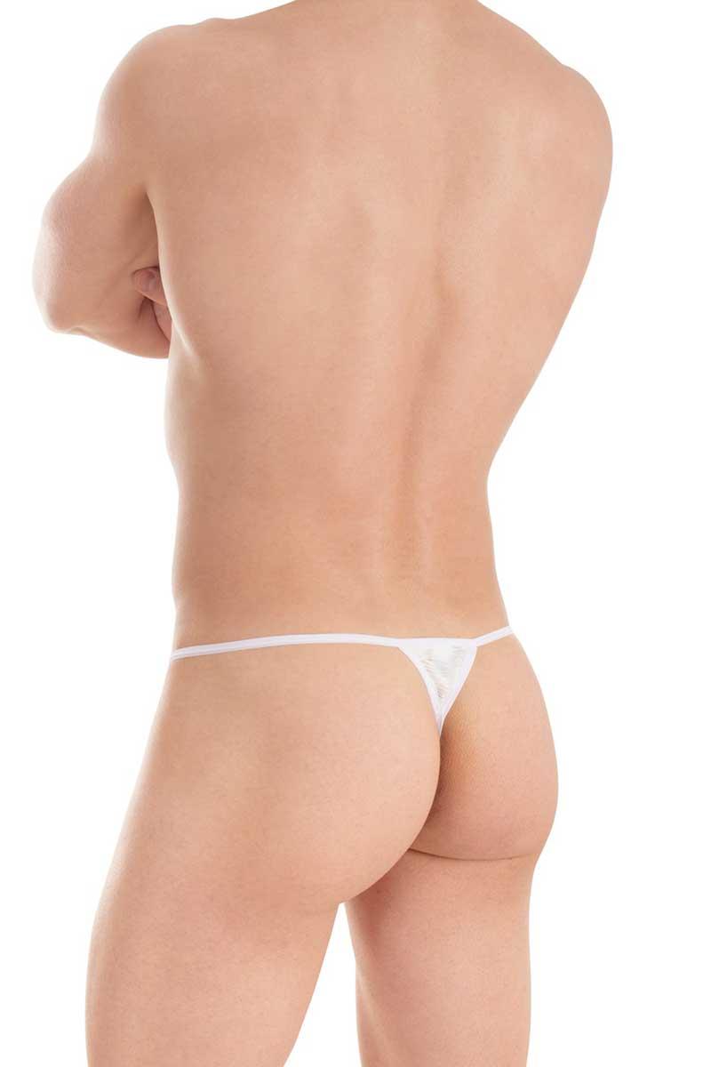 9e714804285 L'Homme Invisible Plisse String Striptease Thong Underwear White  MY11X-PLI-002