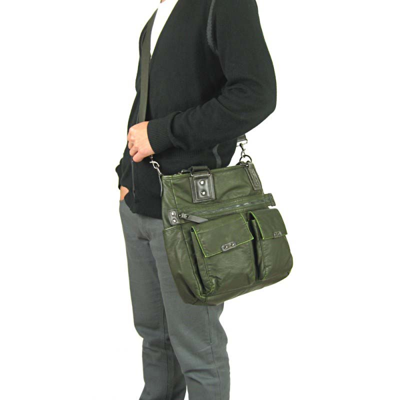 f77f0b8176 Licence 71195 Commuter OZ Carrying Shoulder Bag Khaki LBF10824-KK ...