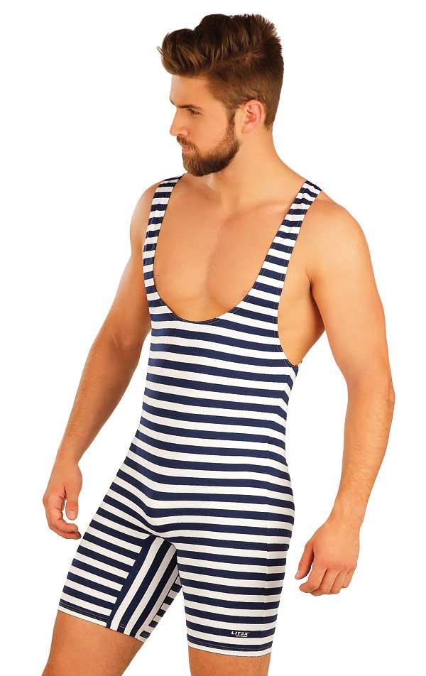 0359a8716e31 Litex Stripe Retro Swimwear Bodysuit 93656 [93656] : Buy Men's ...