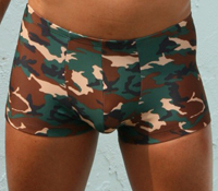 Little Boy Blue Design Sarge Square Cut Trunk Swimwear Camouflage 970P
