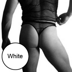 Lookme Mesh G String Underwear White 01-57