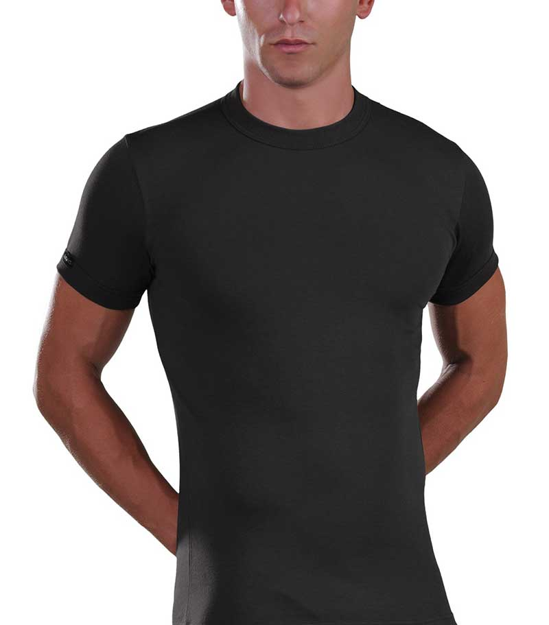 Lord Viscose Short Sleeved T Shirt Black 380