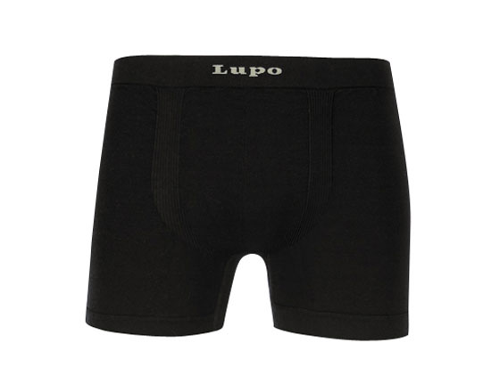 Lupo Micromodal Seamless Boxer Brief Underwear Black 661-01