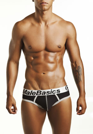 MaleBasics Classic Comfort Brief Underwear Black MB003