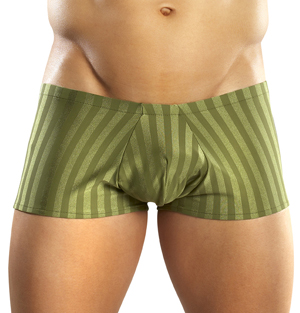 Male Power Striped Lycra Mini Shorts 154TT