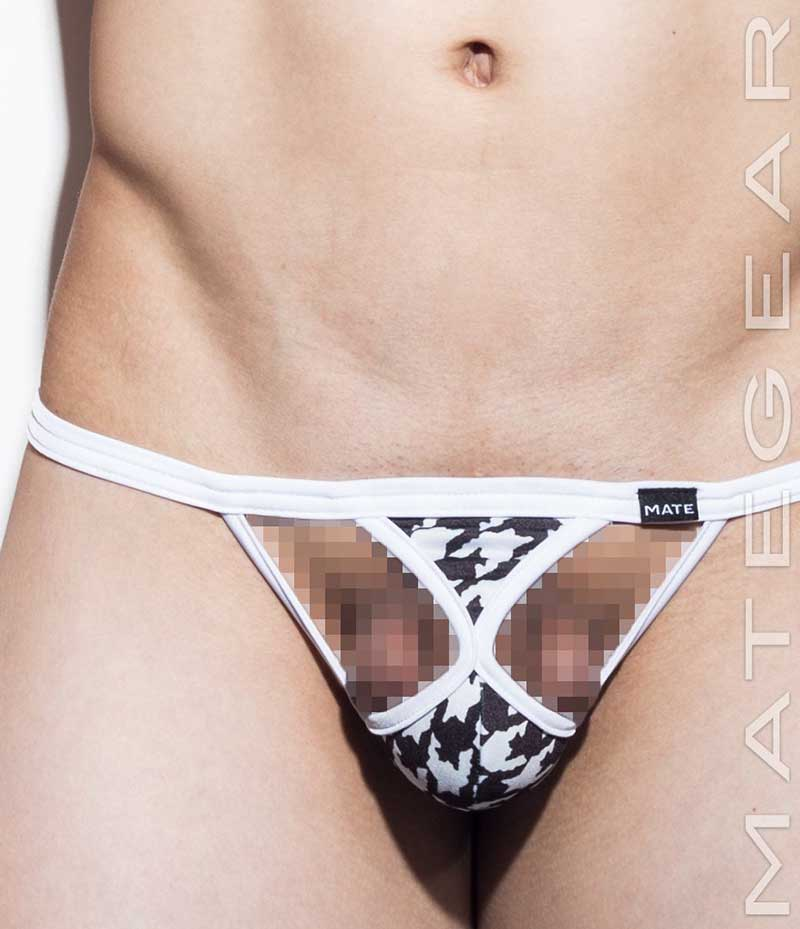 84674d094 Mategear Nae Tam Xpression Mini G String Underwear White Dark Brown 1531102
