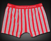 Underwear Of Sweden Boxer Brief Underwear Striped Red/Grey