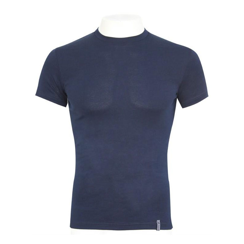 Minerva Micro Cotton Vest Muscle Top T Shirt Navy 11020