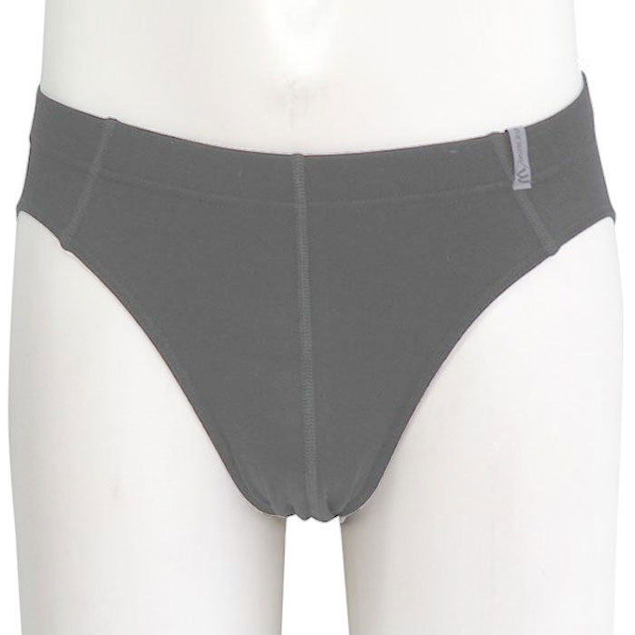 Minerva Micro Cotton Slip Inside Rubber Brief Underwear Graphite 21040