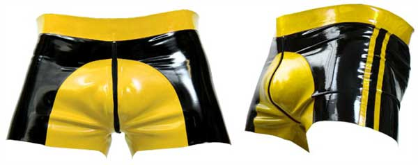 Mister B Rubber Saddle Shorts Yellow 313720