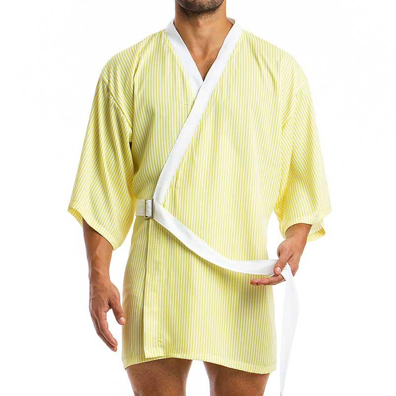 151036f9ff Modus Vivendi Animal Kimono Loungewear Yellow White 06851  06851    Buy Men s  Fashion Online