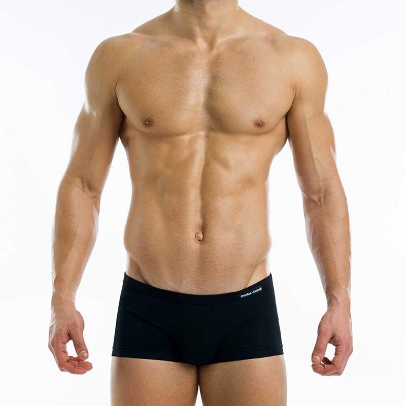 88a7e7e31f8e3 Modus Vivendi Antibacterial Brazil Cut Boxer Brief Underwear Black 15621