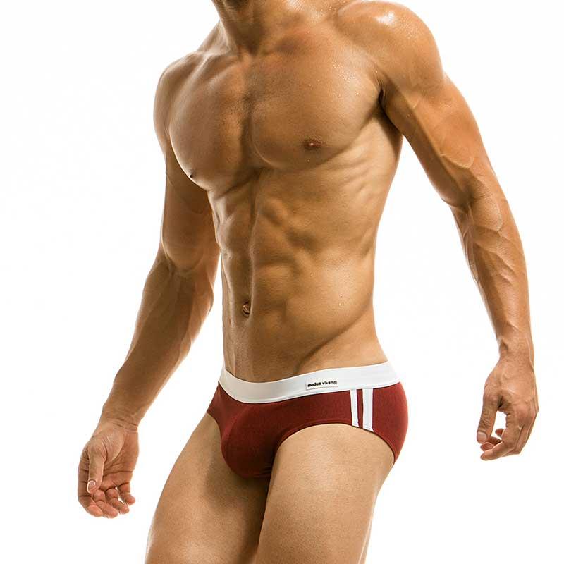 c142a5c6d71c8 Modus Vivendi Melanze Bikini Swimwear Red S1715 [S1715] : Buy Men's ...