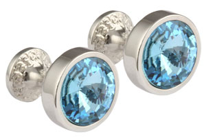 Mousie Bean Crystal Cufflinks Goblet 082 Aqua