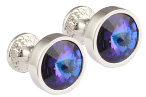 Mousie Bean Crystal Cufflinks Goblet 082 Helio