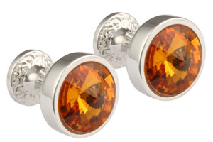 Mousie Bean Crystal Cufflinks Goblet 082 Topas