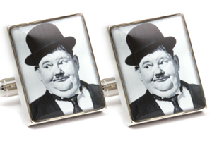 Mousie Bean Photo Cufflinks Laurel & Hardy 1033-1