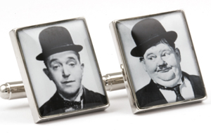 Mousie Bean Photo Cufflinks Laurel & Hardy 1033-3